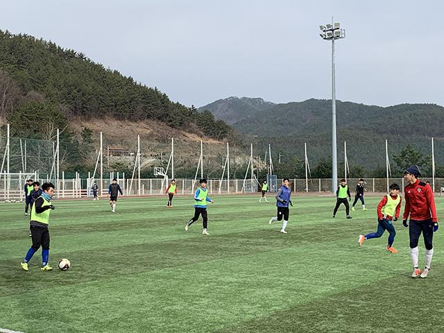 동계전지훈련의 최적지 통영  전국에서 모이다-전지훈련팀 훈련2.jpg